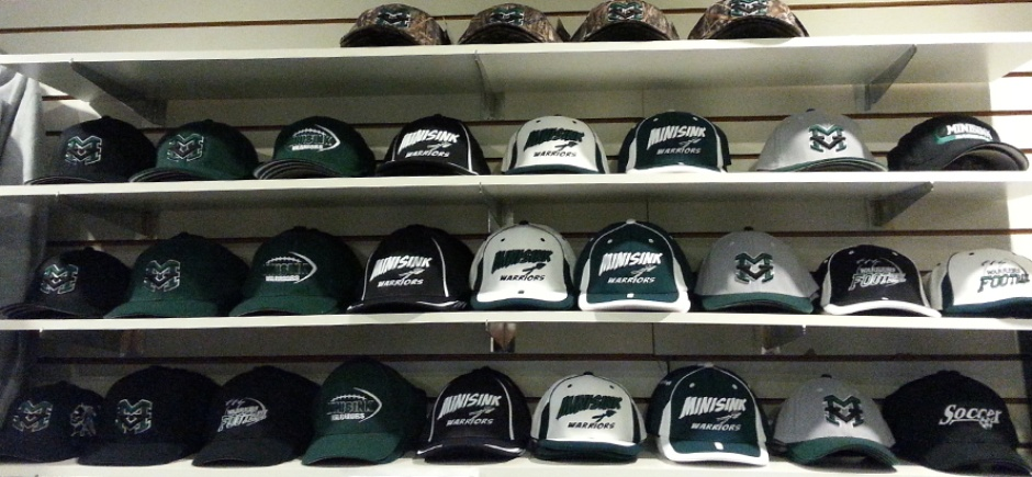 Rows of hats